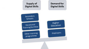 scale of demand and supply of digital skills